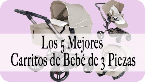 Carrito de Bebé de 3 Piezas