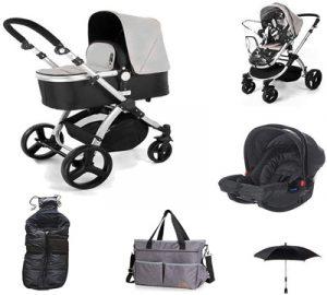 carritos de bebe 3 piezas baratos